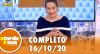 A Tarde é Sua (16/10/20)   Completo