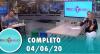 Tricotando (04/06/2020) | Completo