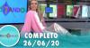 Tricotando (26/06/2020) | Completo