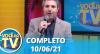 Você na TV - Reprise (10/06/21) | Completo
