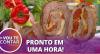 """Receita de """"Pirulito de Fraldinha"""" com mussarela, tomate seco e aspargos"""
