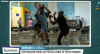 Dançando atrás: a mulher nem se incomodou