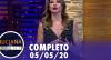 Luciana by Night com Raul Gil e Ana Hickmann (05/05/2020)