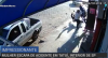 Mulher escapa por pouco de ser atingida por moto e motociclista