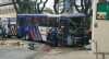 Motorista de ônibus perde controle da direção e invade loja em Santo André