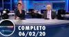 Assista à íntegra do RedeTV News de 06 de fevereiro de 2020