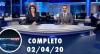 Assista à íntegra do RedeTV News de 02 de abril de 2020