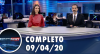 Assista à íntegra do RedeTV News de 09 de abril de 2020