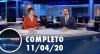 Assista à íntegra do RedeTV News de 11 de abril de 2020