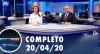 Assista à íntegra do RedeTV News de 20 de abril de 2020