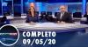 Assista à íntegra do RedeTV News de 9 de maio de 2020