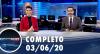 Assista à íntegra do RedeTV News de 03 de junho de 2020