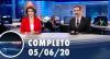 Assista à íntegra do RedeTV News de 05 de junho de 2020