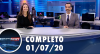 Assista à íntegra do RedeTV News de 1º de julho de 2020