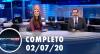 Assista à íntegra do RedeTV News de 2 de julho de 2020