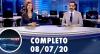 Assista à íntegra do RedeTV News de 8 de julho de 2020