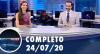 Assista à íntegra do RedeTV News de 24 de julho de 2020