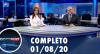 Assista à íntegra do RedeTV News de 1 de agosto de 2020
