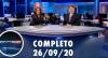 Assista à íntegra do RedeTV News de 26 de setembro de 2020