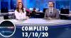 Assista à íntegra do RedeTV News de 13 de outubro de 2020