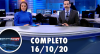Assista à íntegra do RedeTV News de 16 de outubro de 2020