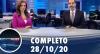 Assista à íntegra do RedeTV News de 28 de outubro de 2020