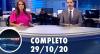 Assista à íntegra do RedeTV News de 29 de outubro de 2020
