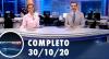 Assista à íntegra do RedeTV News de 30 de outubro de 2020