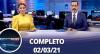 Assista à íntegra da RedeTV News de 02 de fevereiro de 2021