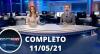 Assista à íntegra do RedeTV News de 11 de maio de 2021