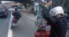 Rapaz tenta fugir de moto, é pego e leva dura de policial