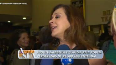 Claudia Raia e Miguel Falabella podem perder mais de meio milhão de reais