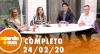 A Tarde é Sua (24/02/20) | Completo