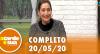 A Tarde é Sua (20/05/20) | Completo