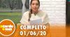 A Tarde é Sua (01/06/20) | Completo