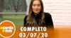 A Tarde é Sua (03/07/20) | Completo
