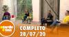 A Tarde é Sua (28/07/20) | Completo