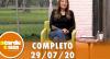A Tarde é Sua (29/07/20) | Completo