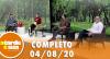 A Tarde é Sua (04/08/20) | Completo