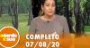 A Tarde é Sua (07/08/20) | Completo