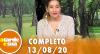 A Tarde é Sua (13/08/20) | Completo