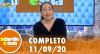 A Tarde é Sua (11/09/20) | Completo