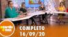 A Tarde é Sua (16/09/20) | Completo