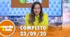 A Tarde é Sua (23/09/20) | Completo