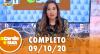 A Tarde é Sua (09/10/20) | Completo