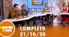 A Tarde é Sua (21/10/20) | Completo