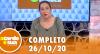 A Tarde é Sua (26/10/20) | Completo