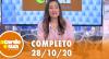 A Tarde é Sua (28/10/20) | Completo