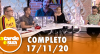A Tarde é Sua (17/11/20) | Completo