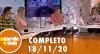 A Tarde é Sua (18/11/20) | Completo